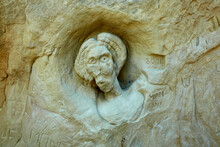 Faces Sculpted In The Rock On ...