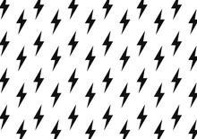 Black Flash Vector Pattern. Flash Pattern.  Bolt Pattern. Lightning Pattern.