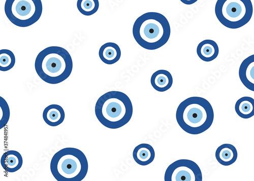Tela Evil eye vector pattern. Evil eye blue pattern wallpaper.