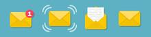 Set Of Email Message Envelope ...