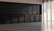 Large luxury modern minimal bright interiors room mockup illustration 3D rendering