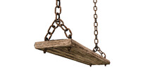 Wooden Swing Isolated On White