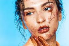 Beautiful Woman In Body Art Of...