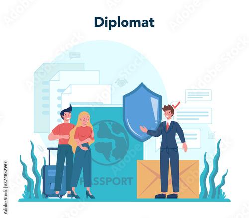 Diplomat profession Canvas Print