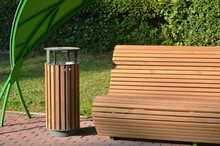 Forged Benches In A Leisure Park In A Metropolis
