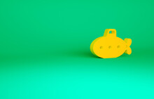 Orange Submarine Toy Icon Isol...