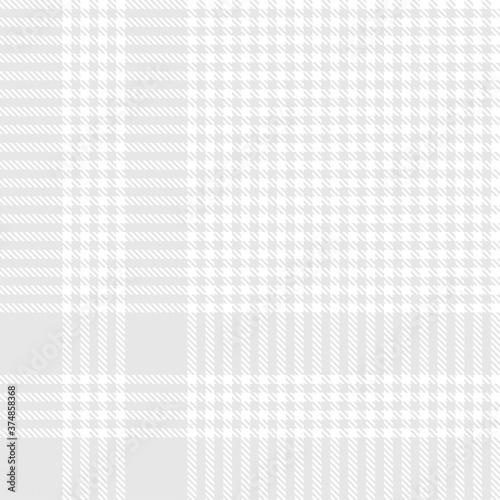 Photo White Glen Plaid textured Seamless Pattern