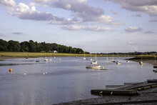 Beautiful Shot Of Deben River Scenery Located In Suffolk, England