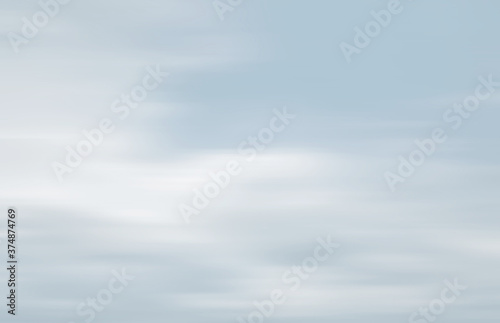 Clouds in motion blur Canvas Print