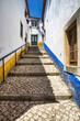 Eine kleine Gasse in Obidos in Portugal