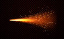 Shower Of Fiery Sparks From Welding Metal Over A Dark Background, Realistic Colored Vector Illustration