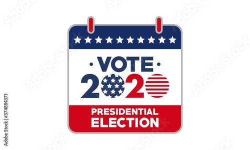 Fotografija 2020 Presidential Election Vote Calendar with Stars and American Flag Vector Tem
