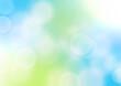 緑色のキラキラした春のイメージの背景イラスト