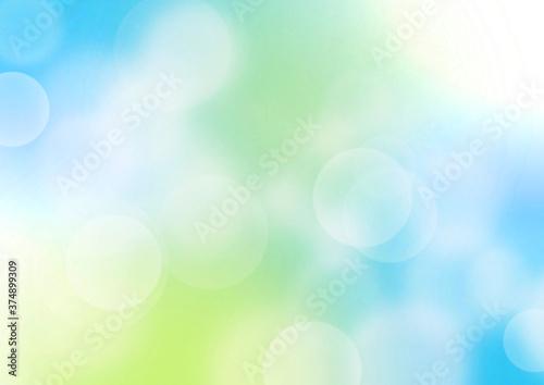 Cuadros en Lienzo 緑色のキラキラした春のイメージの背景イラスト