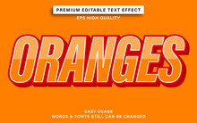 Editable Text Effect Style Oranges