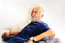 Abstract Colorful Elderly Seni...
