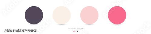 Fotografering Trendy Pantone color palette 2021 for fashion, home, interiors design, web desig