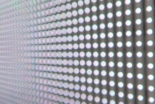 Close-up Of An LED Wall Where ...