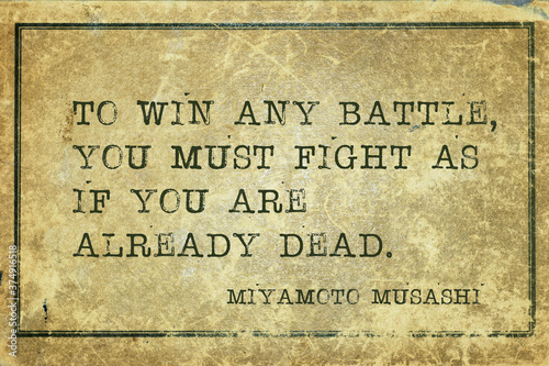 win any battle Musashi Fototapet