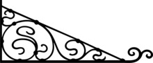 Wrought Iron Sign Bracket