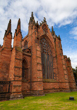 Carlisle Cathedral Church View From An Angle 30 08 2020 United Kingdom
