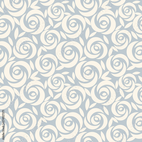 Obraz Seamless damask wallpaper. Vintage pattern in Victorian style . Hand drawn floral pattern. Shabby chic Vector illustration - fototapety do salonu
