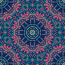 Abstract Festive Colorful Flor...