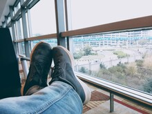 Relaxing In Niks Shoes At Igi Airport Delhi Shoes Towards City From Windows