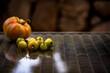canvas print picture - grüne Tomaten