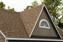 Roof Covered Asphalt Shingles Roofing Construction House Rooftop