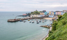 Tenby Harbour At Sunrise In Au...
