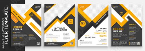 Fotografia Real Estate and Home for sale flyer template design, Leaflets, Flyer Design, Cov