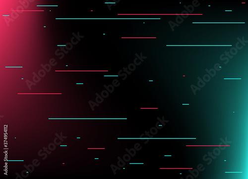 Slika na platnu Abstract glitch TikTok background