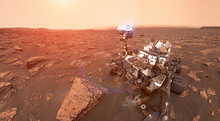 Rover On Mars Surface. Explora...