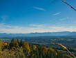 canvas print picture - Blick über das Bayerische Voralpenland im Herbst