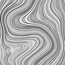 Marble Swirl Wave Pattern Texture, Thin Lines, Transparent Background. Backdrop To Use For Overlay, Montage Or Brushes. Easy To Recolor. Abstract Vector Illustration, Eps 10.