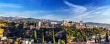 The Alhambra Palace, Granada, ...