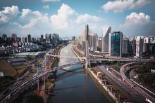 Aerial View Of Pinheiros River...