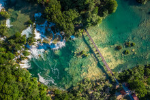Aerial View Of Skradinski Buk ...