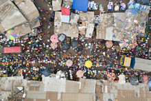 Aerial View Of People At A Com...