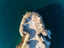 Aerial View Above Of St. Nicholas Fortress During Sunny Day, Sibenik, Croatia.