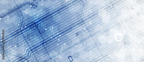 Photo Abstract tech background. Futuristic technology interface