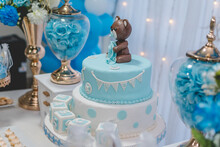 Baby Shower Boy Cake, Teddy Be...