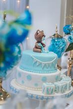 Baby Shower Boy Cake, Teddy Be...