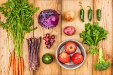 Freshly Harvested Organic Produce On Display
