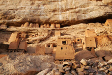 Ancient Tellem - Dogon Village On The Wall Of Bandiagara Escarpm