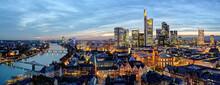 City Skyline, Frankfurt-am-Main, Hessen, Germany, Europe