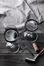 Wine: Two Glasses Of Red Wine ...