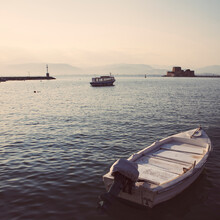 Boats In Nafplio Harbour