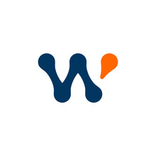 W LOGO CONCEPT, WITH TECHNOLOG...